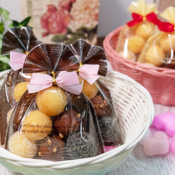 プチギフト お菓子 詰め合わせ 結ちっぴるー 10袋セット ばらまき  小分け サーターアンダギー クリーム ブラウン 送料無料 ryugu 05