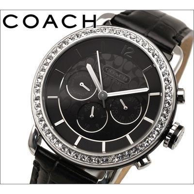 【ギフト】 コーチ COACH (14501654) レディース 時計 ブラックレザー クリスタル, 介護用品販売フレッシュパーク e59f5440