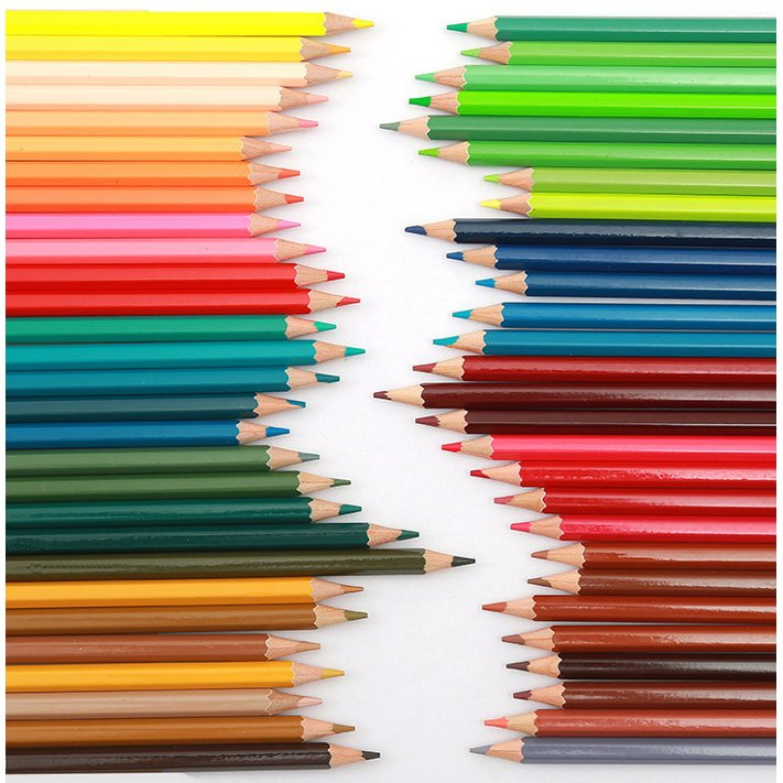 送料無料 色鉛筆 72色セット 72本入り 鉛筆ホルダー/鉛筆削り/消しゴム付属 油性 デザイン イラスト スケッチ 塗り絵 漫画 授業 学校教材用 ノート 手帳|ryvy|02