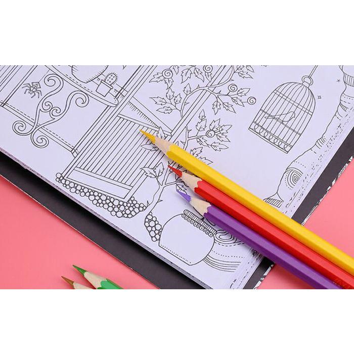 送料無料 色鉛筆 72色セット 72本入り 鉛筆ホルダー/鉛筆削り/消しゴム付属 油性 デザイン イラスト スケッチ 塗り絵 漫画 授業 学校教材用 ノート 手帳|ryvy|05