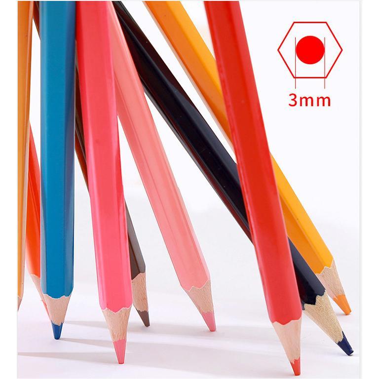 送料無料 色鉛筆 72色セット 72本入り 鉛筆ホルダー/鉛筆削り/消しゴム付属 油性 デザイン イラスト スケッチ 塗り絵 漫画 授業 学校教材用 ノート 手帳|ryvy|06