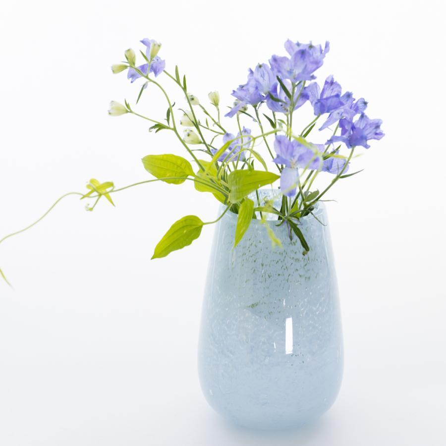 完全送料無料 HenryDean ヘンリーディーン ストロンボリXS 贈答 パステルブルー 花器 ガラス花瓶