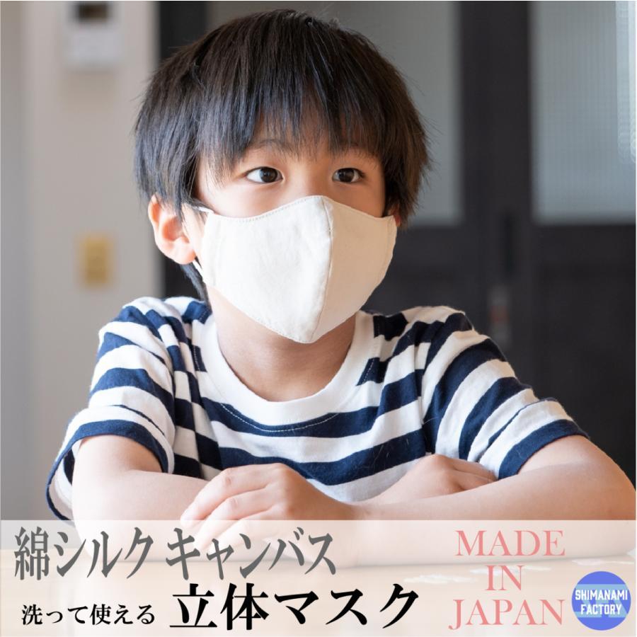 キャンバスマスク マスク 立体マスク 布マスク シルク混 キャンバス 日本製 国産 洗える おしゃれマスク 選べるサイズ 大人 子ども|s-factory-store