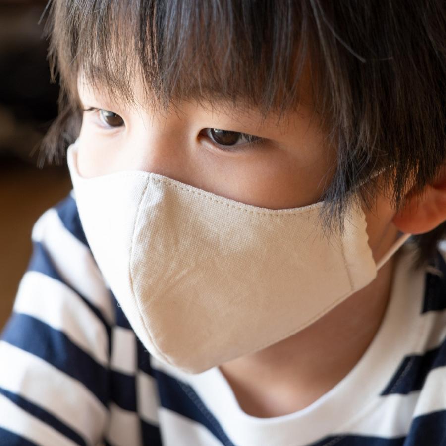 キャンバスマスク マスク 立体マスク 布マスク シルク混 キャンバス 日本製 国産 洗える おしゃれマスク 選べるサイズ 大人 子ども|s-factory-store|03