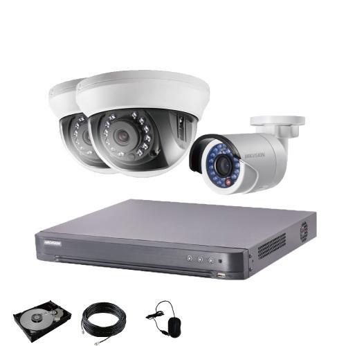 防犯カメラ 屋外 屋内 選べる 3台 4ch レコーダー セット HDD1TB付属  243万画素 HD-TVI FIXレンズ 赤外線カメラ 遠隔監視 s-guard 14