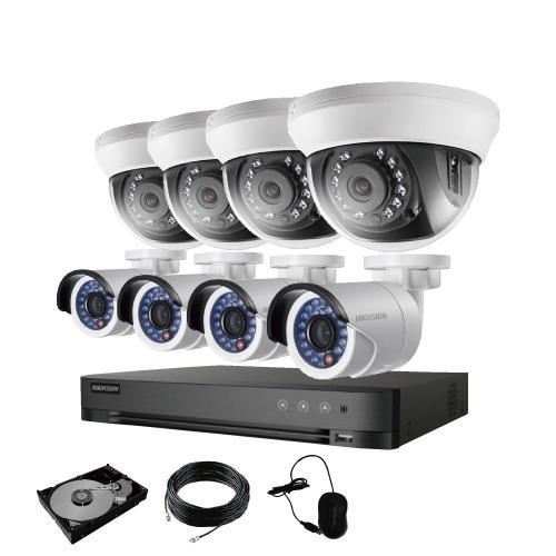 防犯カメラ 屋外 バレット 型 屋内 ドーム型 から 8台 選択 8ch レコーダーセット HDD2TB付属 監視カメラ 赤外線付き 屋内用セット 屋外用セット s-guard 17