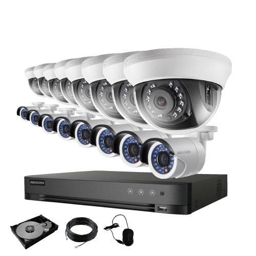 防犯カメラ 屋外 バレット 型 屋内 ドーム型 から 16台 選択 16ch レコーダーセット HDD4TB付属 監視カメラ 赤外線付き 屋内用セット 屋外用セット s-guard 17