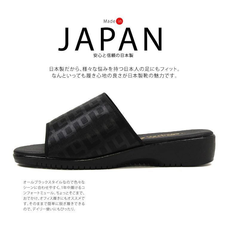 日本製 オフィスサンダル レディース 黒 疲れない サンダル レディース 歩きやすい つっかけ 厚底 ミュール ナースサンダル tk921 923|s-martceleble|02