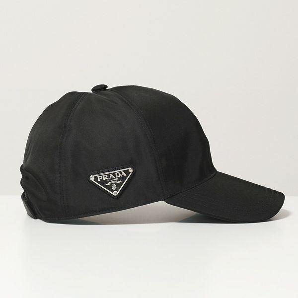 品質一番の PRADA プラダ 1HC274 2HC274 2B15 F0002 ナイロン ベースボールキャップ 帽子 三角ロゴ金具プレート NERO ユニセックス レディース, 岩崎村 e24c9036