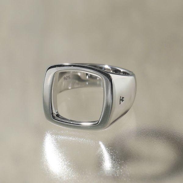【受注生産品】 TOMWOOD トムウッド R75PONA 01 Cushion Open シルバー925 クッションカット オープン リング 指輪 SILVER レディース, シワグン b430d68f