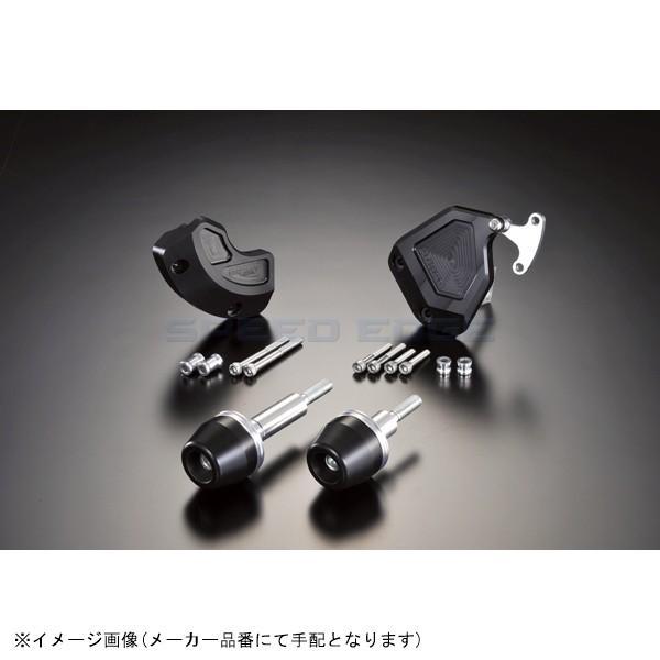 [342-270-005BX] アグラス Rスライダー 4点セット/黒 YZF-R6 08-12