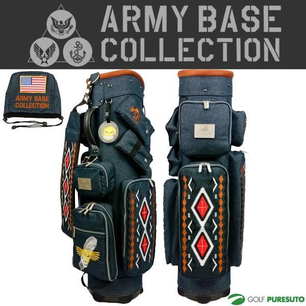 アーミーベースコレクション キャディバッグ U.S NAVY カートバッグ ABC-015CB アイアンカバー付き ネイビー