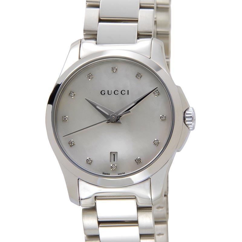 【人気ショップが最安値挑戦!】 グッチ GUCCI 時計 YA126542 G-Timeless Gタイムレス ホワイトシェル レディース 腕時計, 表札工房 あかり 512286be