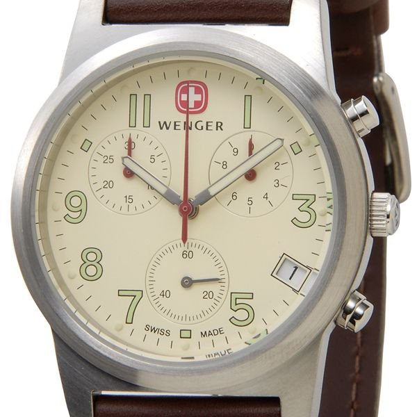 7d7f629d45 アウトドア ゴールド/ WENGER 72346 ウェンガー 200m防水 メンズ腕時計 バタリオン 新品 シルバー 時計 ブルー/ ミリタリー