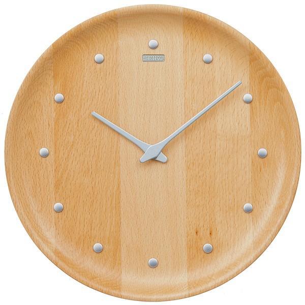 【お取寄せ品・送料無料】セイコークロック 木枠掛時計「nu・ku・mo・ri」KX622H