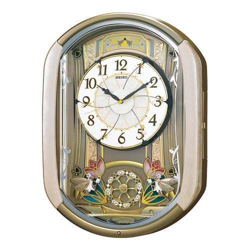 【お取寄せ品】セイコークロック からくり 電波掛時計 RE567G