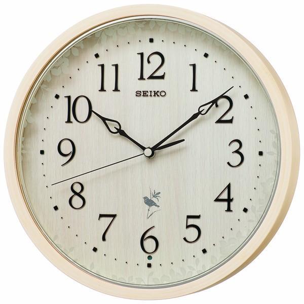 【お取寄せ品】セイコークロック ナチュラルスタイル 電波掛時計 RX215A