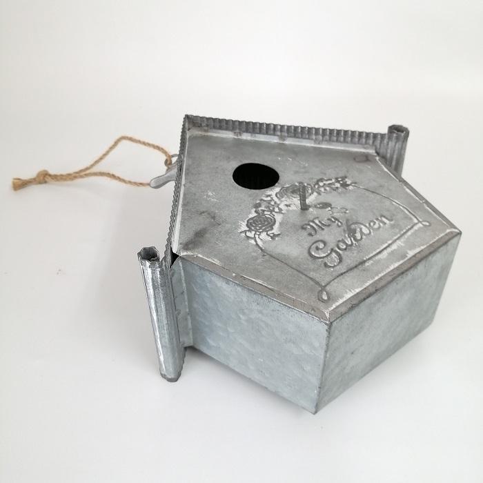 置物 庭 ガーデン オーナメント オブジェ 飾り ブリキ・ネストハング CG-OE-21|s-toolbox|05