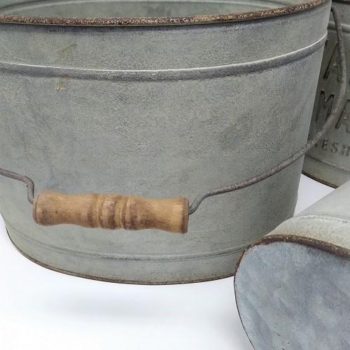 鉢 プランター ブリキ ブリキポット バケツ 植木鉢 鉢カバー ガーデニング雑貨 ファミエール・バケツSET3 CG-OE-29|s-toolbox|04