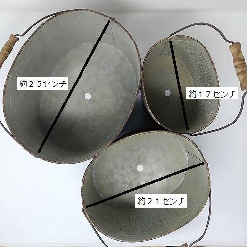 鉢 プランター ブリキ ブリキポット バケツ 植木鉢 鉢カバー ガーデニング雑貨 ファミエール・バケツSET3 CG-OE-29|s-toolbox|06