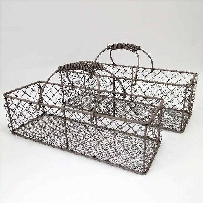 9月下旬再入荷 バスケット かご ワイヤー アイアン ガーデニング雑貨 ワイヤーバスケット CV-04-3876|s-toolbox