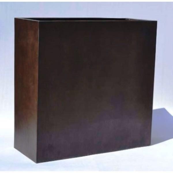 木目調樹脂製鉢カバー MOKU プランターボックス H100cm佐川急便で発送します