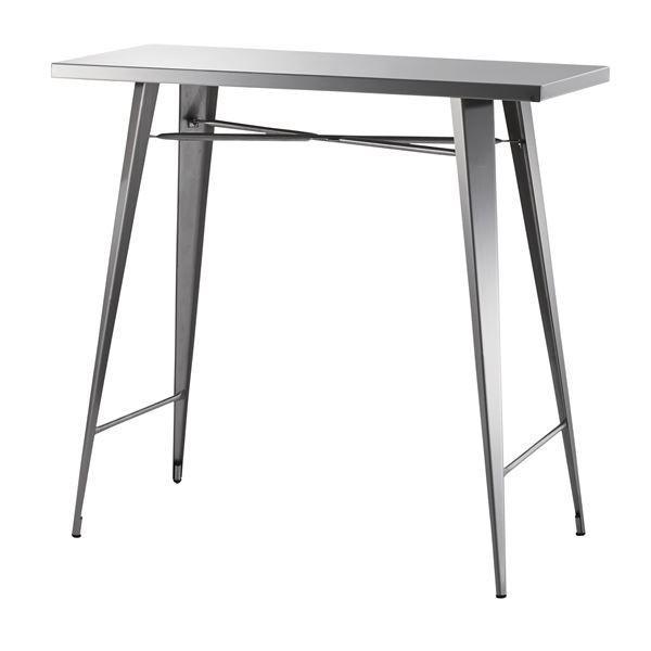 ステンレス製カウンターテーブル/ハイテーブル 〔幅105cm〕 STN-336 〔ディスプレイ家具 什器〕佐川急便で発送します