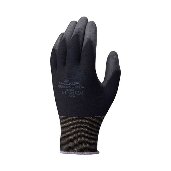 (まとめ)ショーワグローブ パームフィット手袋 B0500 ブラック M〔×50セット〕佐川急便で発送します