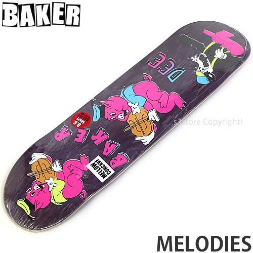 ベイカー BAKER MELODIES スケートボード スケボー デッキ 板 ストリート シグネチャー カラー:Dee Ostrander 紫の サイズ:8.0x31.5