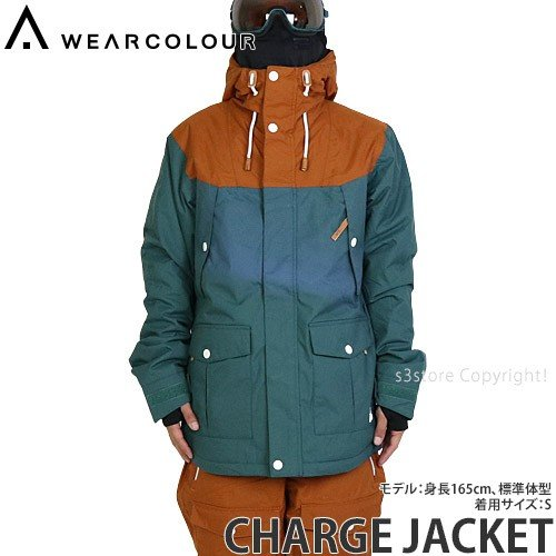 16 ウェア カラー チャージ ジャケット WEAR COLOUR CHARGE JACKET スノーボード スノボー 登山 メンズ 男性 SNOW カラー:BOTTLE GRN