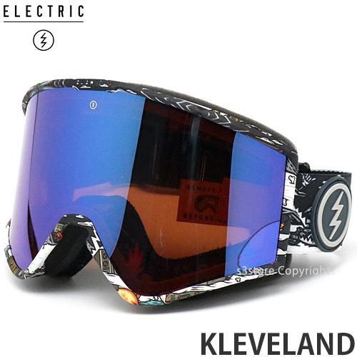 19md エレクトリック クリーブランド ELECTRIC KLEVELAND 国内 スノーボード ゴーグル フレーム:CURL レンズ:BROSE/青 CHROME CONTRAST