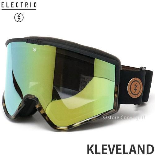 19 エレクトリック クリーブランド ELECTRIC KLEVELAND 国内 スノーボード ゴーグル フレーム:DARK SIDE TORT レンズ:グレー/ゴールド CHROME JP