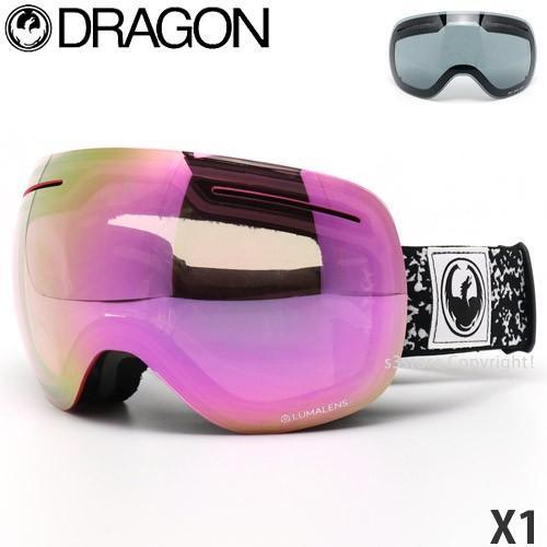 19mdl ドラゴン エックスワン DRAGON X1 ゴーグル スノーボード ルーマ ボーナスレンズ付 フレーム:Scribe レンズカラー:LumaLens ピンク Ion