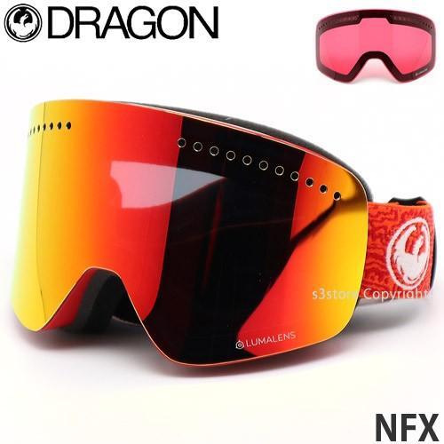 19 ドラゴン エヌエフエックス DRAGON NFX ゴーグル スノーボード ルーマ ボーナスレンズ付 フレーム:Maze レンズカラー:LumaLens 赤 Ion