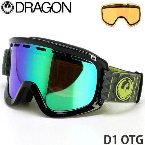 ドラゴン ディー ワン DRAGON D1 OTG 17-18 2018 ルーマ 眼鏡対応 スノーボード ゴーグル ラージFIT フレーム:Amp レンズ:LL 緑 Ion