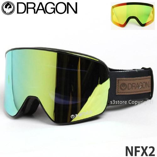 17model ドラゴン エヌエフエックス ツー ゴーグル DRAGON NFX2 16-17 スノーボード GOGGLE フレーム:Chris Benchetler レンズ:Smoke ゴールド