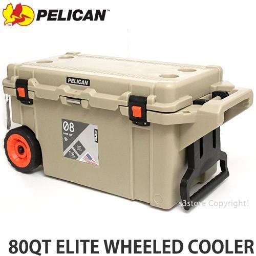 ペリカン 80QT エリート ウィール クーラー クーラーボックス PELICAN 80QT ELITE WHEELED COOLER アウトドア 保冷 カラー:Outdoor Tan サイズ:約75L