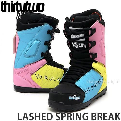 サーティーツー ラッシュ スプリング ブレイク THIRTYTWO LASHED SPRING BREAK スノーボード スノボー ブーツ ギア カラー:BLK/BLU/PNK