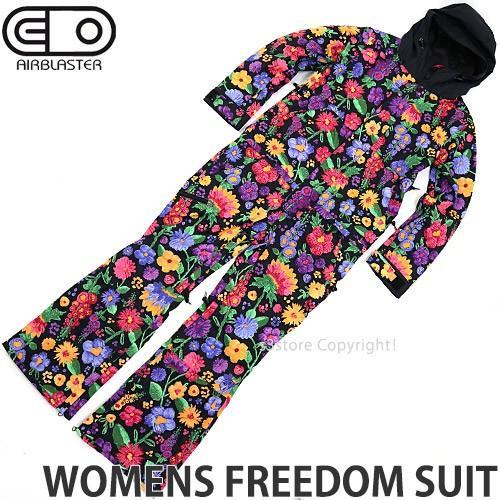 19model エアブラスター ウィメンズ フリーダム スーツ AIRBLASTER 婦人向け FREEDOM SUIT スノー ボード ウエア つなぎ 女性 カラー:FLOWERS