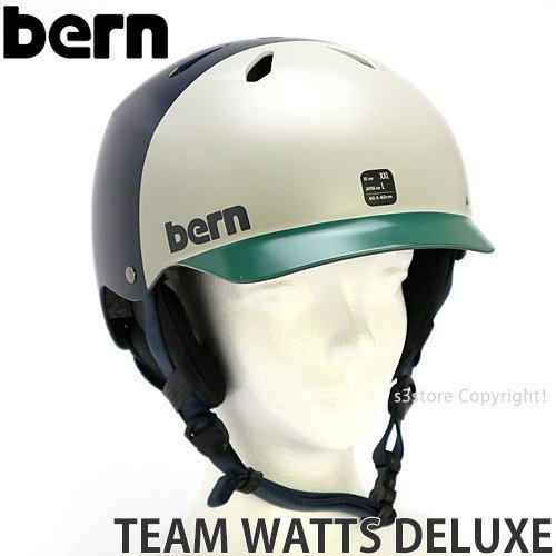 バーン チーム デラックス ジャパンフィット BERN TEAM WATTS DELUXE JAPAN FIT 国内正規 スノボ スキー ヘルメット color:SatinNavy