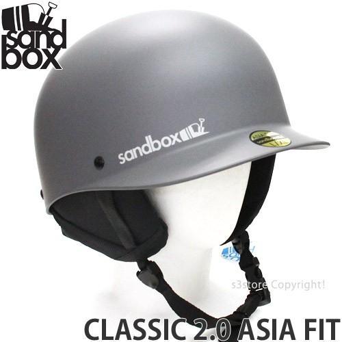 17 サンドボックス クラシック 2.0 アジアンフィット ヘルメット SANDBOX CLASSIC 2.0 ASIA FIT 国内正規品 スノーボード プロテクター SNOW カラー:M.グレー