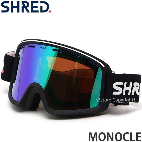 20model シュレッド SH赤 MONOCLE ゴーグル スノーボード スキー アジアンFIT カラー:BK レンズカラー:CBL PLASMA MIRROR (VLT 16%)