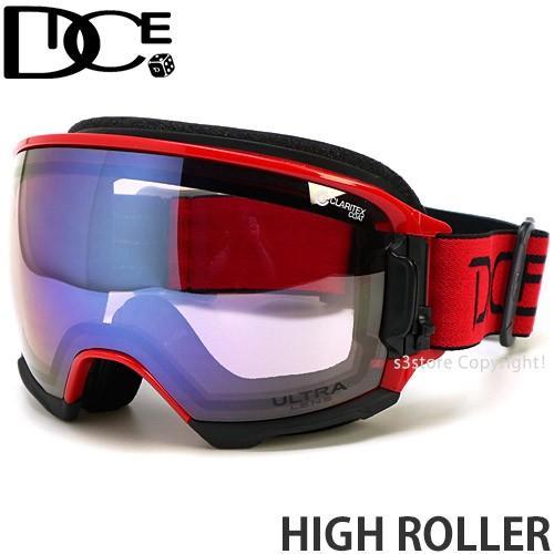 19model ダイス ハイ ローラー DICE HIGH ROLLER スノボ ゴーグル 日本製 フレームカラー:R レンズカラー:Ice Mirror/ULTRA Light 紫の