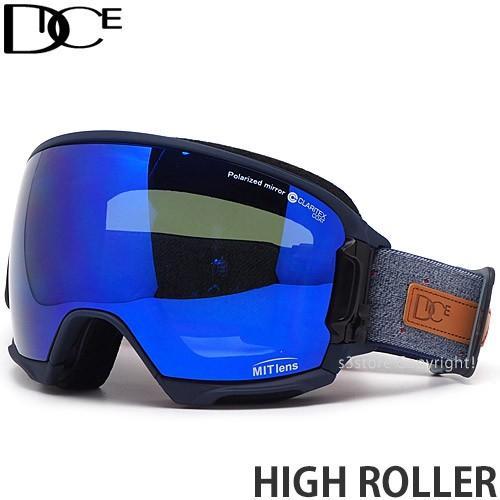 絶妙なデザイン 20model ダイス ハイ ローラー DICE HIGH ROLLER スノーボード スノボー スキー ゴーグル フレーム:Navy レンズ:MIT Blue/Pola Gray, 気質アップ 693d6e7f
