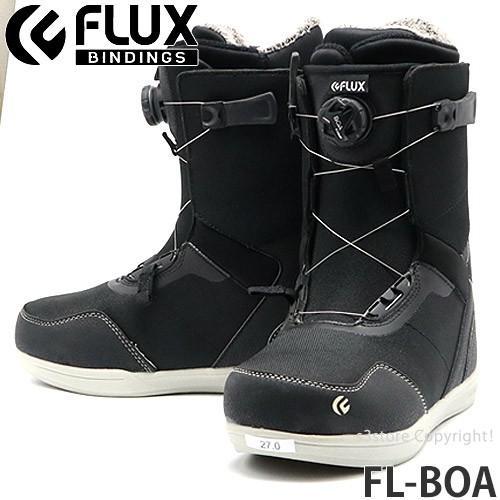 19model フラックス エフエル ボア FLUX FL-BOA スノーボード ブーツ クイック 簡単 着脱 メンズ SNOWBOARD BOOTS MENS カラー:黒/白い