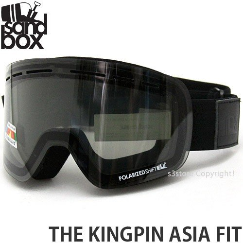 18 サンドボックス キングピン アジアンフィット ゴーグル SANDBOX THE KINGPIN A.F 国内正規品 Frame:黒 Lens:POLA PHOTOCHROMIC