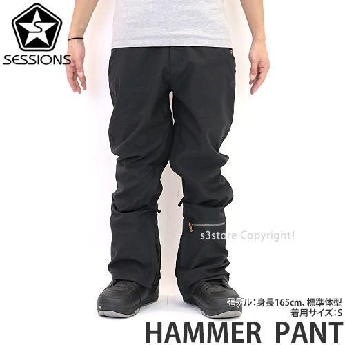 19model セッションズ ハンマー パンツ SESSIONS HAMMER PANT スノーボード メンズ ウェア ウエア SNOWBOARD WEAR カラー:黒