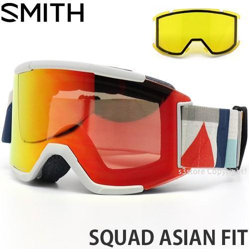 19model スミス スカッド アジアンフィット SMITH SQUAD ASIAN FIT カラー:EVAN HECOX レンズカラー:CHROMAPOP EVERYDAY 赤 MIRROR