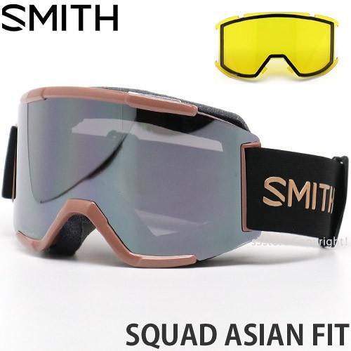 19model スミス スカッド アジアンフィット SMITH SQUAD ASIAN FIT カラー:CHAMPAGNE レンズカラー:CHROMAPOP SUN PLATINUM MIRROR