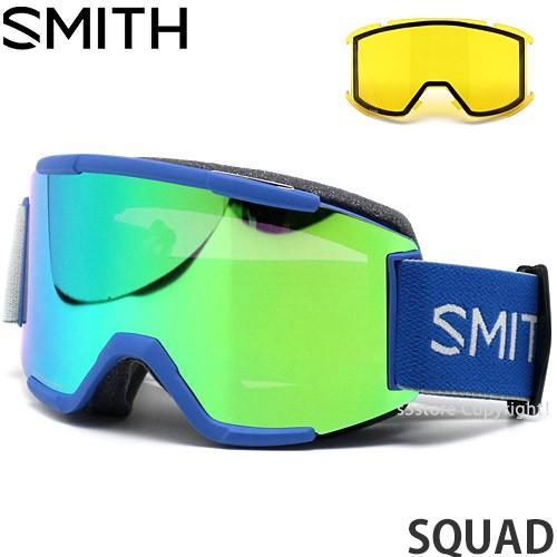 19 スミス スカッド SMITH SQUAD スノーボード ゴーグル GOGGLE SNOW Frame:IMPERIAL 青 Lens:CHROMAPOP SUN 緑 MIRROR